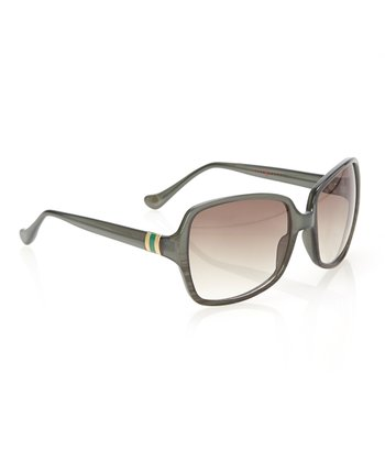 Green Horn & Smoke Gradient Lens Squared Butterfly Sunglasses
