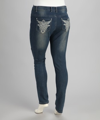 Medium Blue Jeans - Plus
