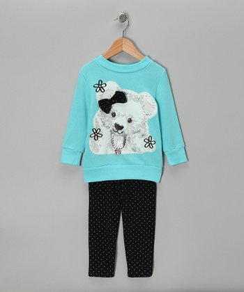 Blue Cub Sweatshirt & Leggings - Toddler