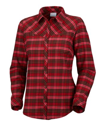 Afterglow Plaid Pettygrove Flannel Button-Up - Women