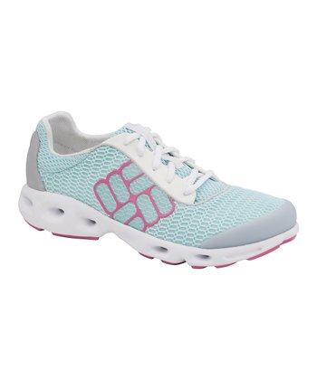 Turquoise & Purple Drainmaker Running Shoe - Women
