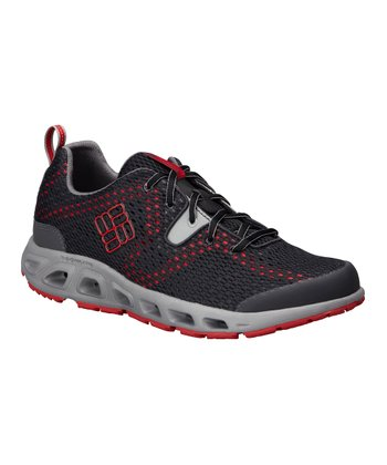 Black & Red Drainmaker II Running Shoe - Men