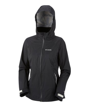 Black Tracer Racer Shell Raincoat - Women