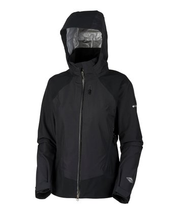 Black Triple Trail Shell Raincoat - Women