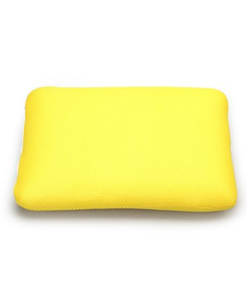 Yellow Classic Memory Foam Mini Travel Pillow