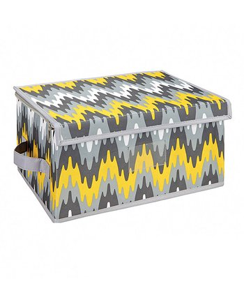 Joni Citron Pop Medium Zippered Storage Box