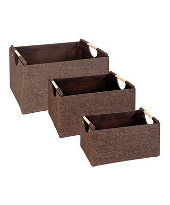 Espresso Rectangular Nesting Storage Tote Set