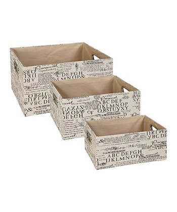 Alpha Rectangular Nesting Storage Tote Set