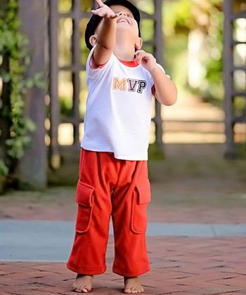 Red Fleece Cargo Pants - Infant, Toddler & Boys