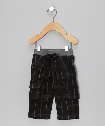 Black Plaid Cargo Pants - Infant, Toddler & Boys