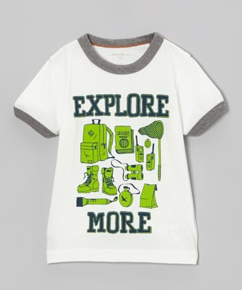 Off-White 'Explore More' Ringer Tee - Toddler & Boys