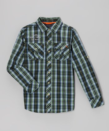 Dark Hunter Plaid Button-Up - Toddler & Boys