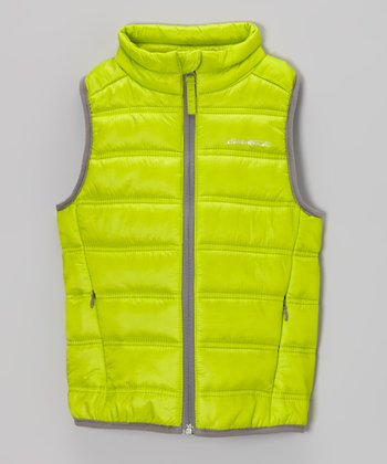 Green Tea Puffer Vest - Toddler & Kids