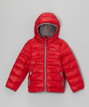 Bright Red Puffer Jacket - Toddler & Kids
