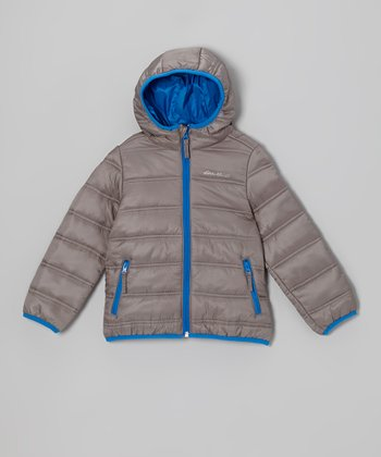 Cool Gray Puffer Jacket - Toddler & Kids