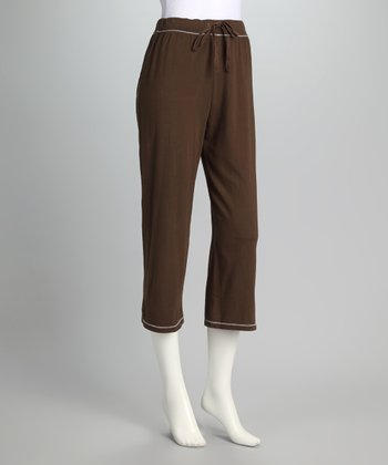 Brown Feel Good Capri Pants