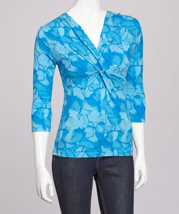 Lagoon & Ocean Waters Twist Front Top