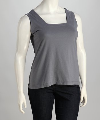 Light Gray Plus-Size Tank