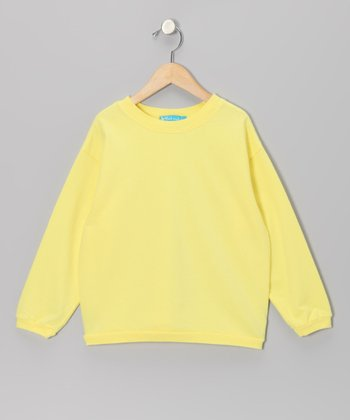 Yellow Daffodil Fleece Top - Girls
