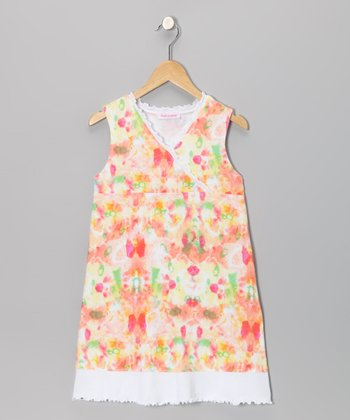 Yellow Calypso Surplice Dress - Girls