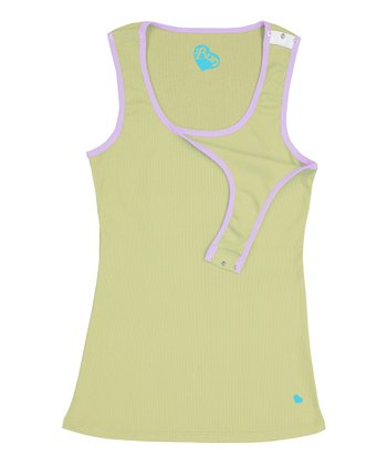 Linden Lime & Wisteria Retro Nursing Tank - Women