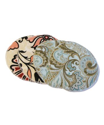 Blue Paisley & Lotus Nursing Pad Set