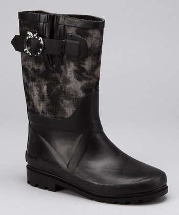 Black Sammi Denim Boot