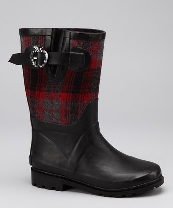 Black & Red Sammy Boot