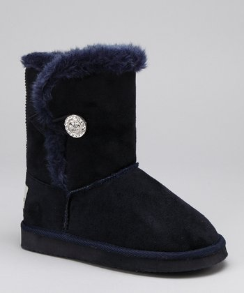 Apple Bottoms Navy Victoria Boot