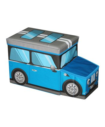 Blue Mini Car Folding Storage Ottoman