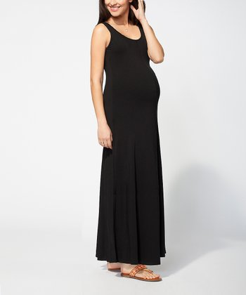 Black Tank Maternity Maxi Dress