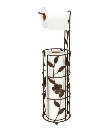 Rust Leaf Toilet Paper Storage & Dispenser