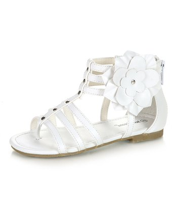 White Hugo Sandal