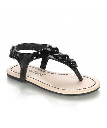 Black Flower Tany Sandal