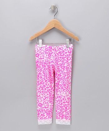 Hot Pink Cheetah Leggings - Infant, Toddler & Girls