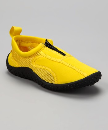 Neon Yellow Aqua Zipper Water Shoes