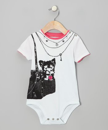 White Puppy Royalty Bodysuit - Infant