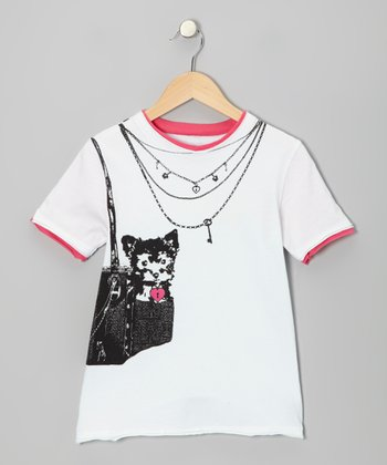 White Puppy Royalty Tee - Toddler & Kids