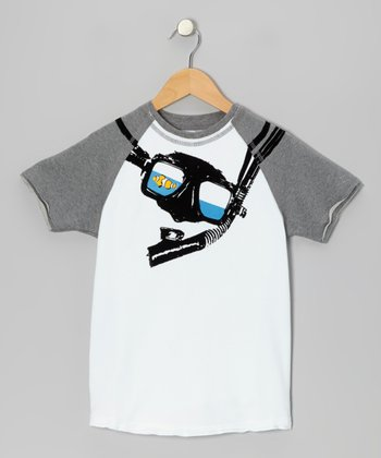 White Snorkel Raglan Tee - Toddler & Kids
