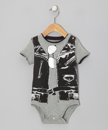 Gray Rocker Vest Bodysuit - Infant