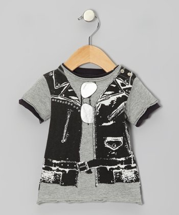 Gray Rocker Snap Tee - Infant