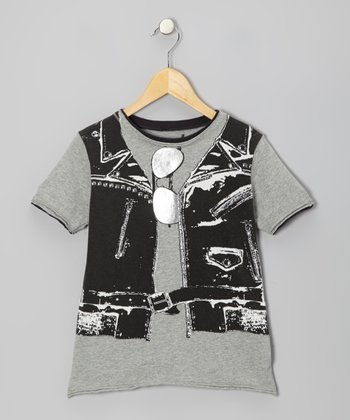 Gray Rocker Vest Tee - Kids