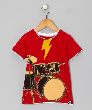 Red To The Beat Of Your Drums Tee - Toddler & Kids
