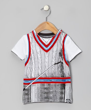 White For Birdie Snap Tee - Infant