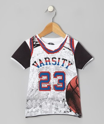 White 'Varsity' Basketball Tee - Toddler & Kids