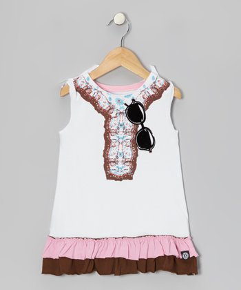White Bohemian Dress - Infant, Toddler & Girls