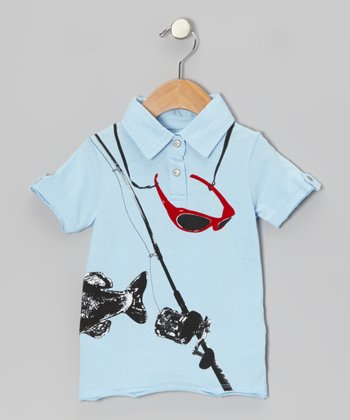 Blue The Big Catch Polo - Infant & Kids