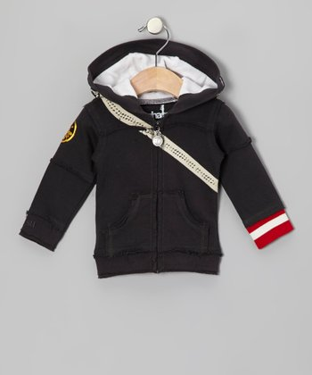 Black Electric Guitar Zip-Up Hoodie - Infant