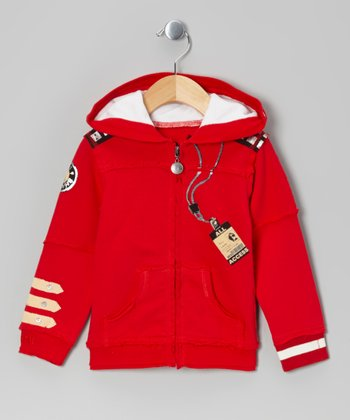 Red Singer-Song Writer Zip-Up Hoodie - Infant & Kids