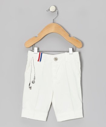 White Earphone Shorts - Infant, Toddler & Kids